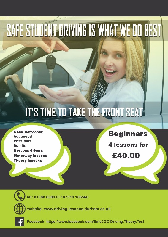 Safe2go-Driving-School-Bishop-Auckland-4-for-£40-driving-lessons